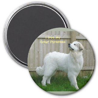 """I love my Great Pyrenees"" Magnet"