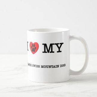 I LOVE MY GREATER SWISS MOUNTAIN DOG COFFEE MUGS