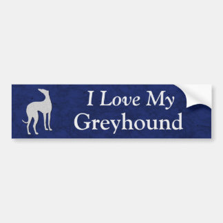 I Love My Greyhound Bumper Sticker
