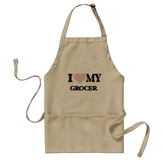 I love my Grocer (Heart Made from Words) Standard Apron