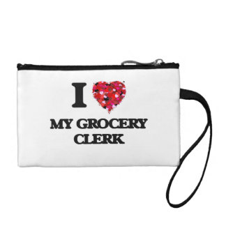 I Love My Grocery Clerk Coin Wallets