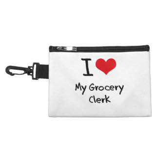 I Love My Grocery Clerk Accessories Bags