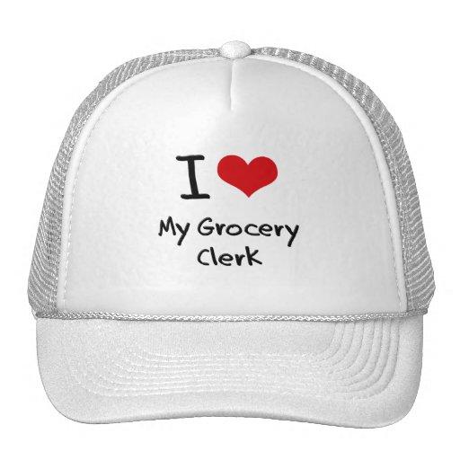 I Love My Grocery Clerk Mesh Hats