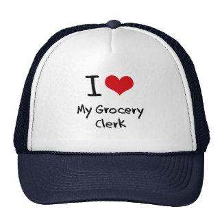 I Love My Grocery Clerk Mesh Hat