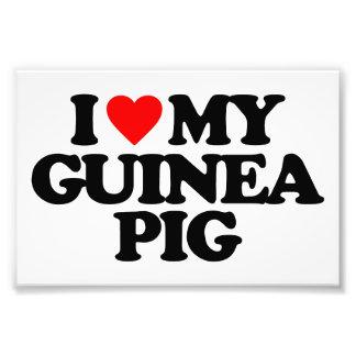 I LOVE MY GUINEA PIG PHOTO PRINT