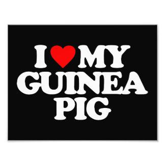 I LOVE MY GUINEA PIG PHOTOGRAPH
