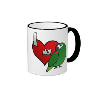I Love my Hahn's Macaw Mug