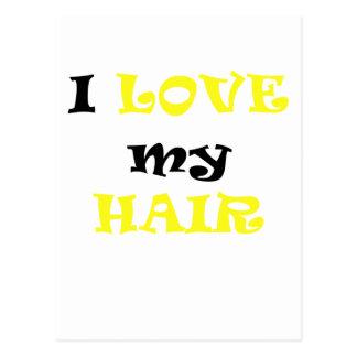 I Love My Hair Post Card