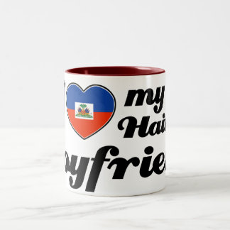 I love my Haitian boyfriend Two-Tone Coffee Mug