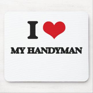 I Love My Handyman Mouse Pad