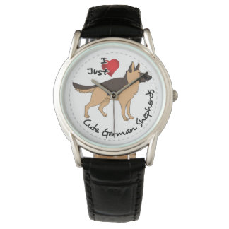 I Love My Happy Adorable & Cute German Shepherd Watch