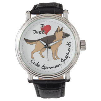 I Love My Happy Adorable & Cute German Shepherd Watches