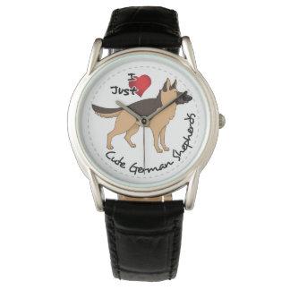 I Love My Happy Adorable & Cute German Shepherd Wrist Watches