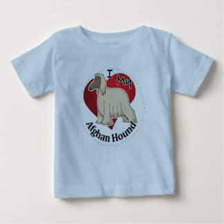 I Love My Happy Adorable Funny & Cute Afghan Hound Baby T-Shirt