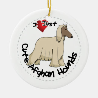 I Love My Happy Adorable Funny & Cute Afghan Hound Ceramic Ornament