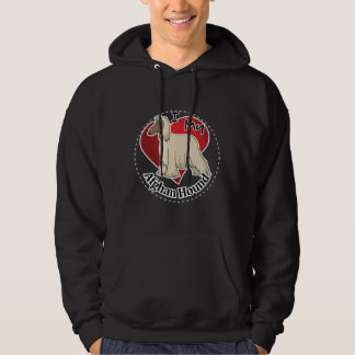 I Love My Happy Adorable Funny & Cute Afghan Hound Hoodie