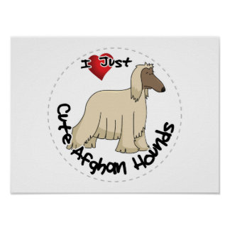 I Love My Happy Adorable Funny & Cute Afghan Hound Poster