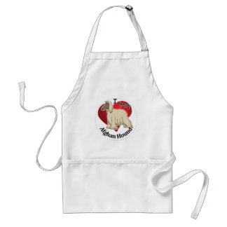 I Love My Happy Adorable Funny & Cute Afghan Hound Standard Apron