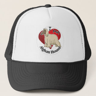 I Love My Happy Adorable Funny & Cute Afghan Hound Trucker Hat