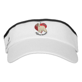 I Love My Happy Adorable Funny & Cute Afghan Hound Visor