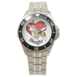 I Love My Happy Adorable Funny & Cute Beagle Dog Watch