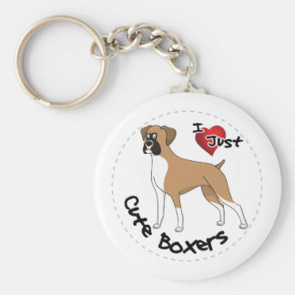 I Love My Happy Adorable Funny & Cute Boxer Dog Key Ring
