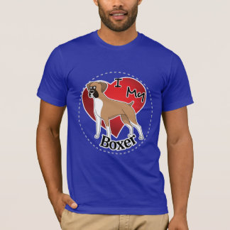 I Love My Happy Adorable Funny & Cute Boxer Dog T-Shirt