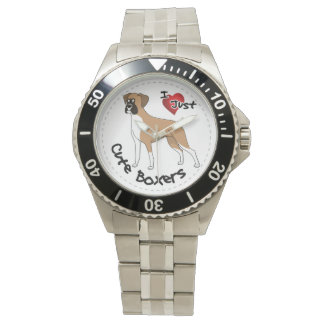I Love My Happy Adorable Funny & Cute Boxer Dog Watches