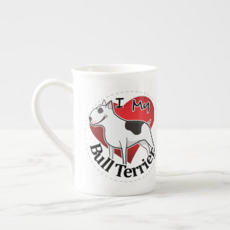 I Love My Happy Adorable Funny & Cute Bull Terrier Tea Cup