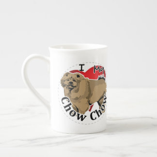 I Love My Happy Adorable Funny & Cute Chow Chow Tea Cup
