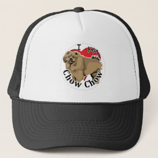 I Love My Happy Adorable Funny & Cute Chow Chow Trucker Hat