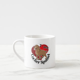 I Love My Happy Adorable Funny & Cute Cocker Spani Espresso Cup