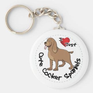 I Love My Happy Adorable Funny & Cute Cocker Spani Key Ring