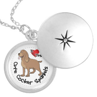 I Love My Happy Adorable Funny & Cute Cocker Spani Locket Necklace