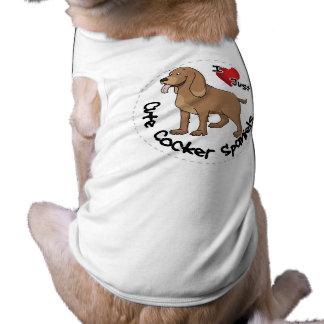 I Love My Happy Adorable Funny & Cute Cocker Spani Sleeveless Dog Shirt