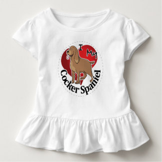 I Love My Happy Adorable Funny & Cute Cocker Spani Toddler T-Shirt