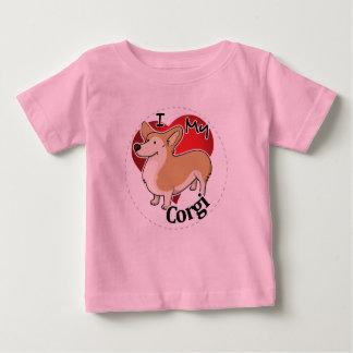 I Love My Happy Adorable Funny & Cute Corgi Dog Baby T-Shirt