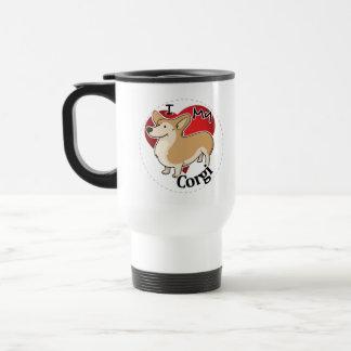 I Love My Happy Adorable Funny & Cute Corgi Dog Travel Mug