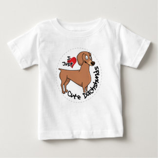 I Love My Happy Adorable Funny & Cute Dachshund Do Baby T-Shirt