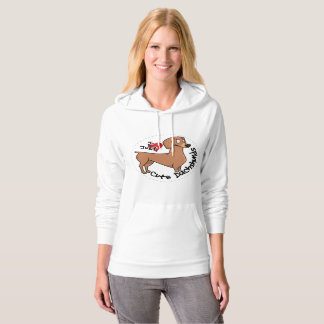 I Love My Happy Adorable Funny & Cute Dachshund Do Hoodie