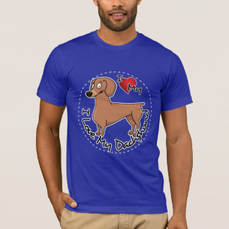 I Love My Happy Adorable Funny & Cute Dachshund Do T-Shirt