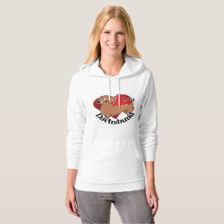 I Love My Happy Adorable Funny & Cute Dachshund Hoodie