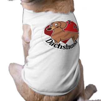 I Love My Happy Adorable Funny & Cute Dachshund Shirt