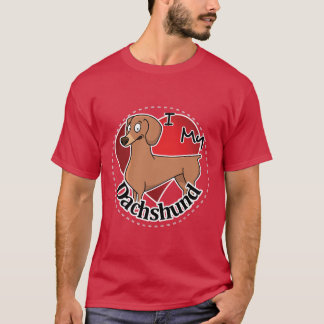 I Love My Happy Adorable Funny & Cute Dachshund T-Shirt