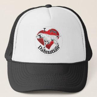 I Love My Happy Adorable Funny & Cute Dalmatian Trucker Hat
