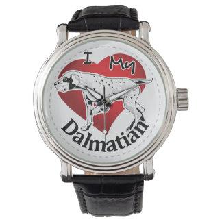 I Love My Happy Adorable Funny & Cute Dalmatian Wrist Watch