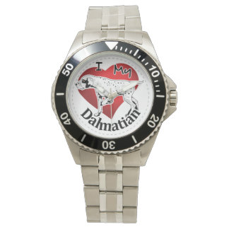 I Love My Happy Adorable Funny & Cute Dalmatian Wrist Watches