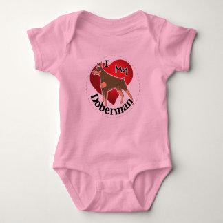 I Love My Happy Adorable Funny & Cute Doberman Dog Baby Bodysuit