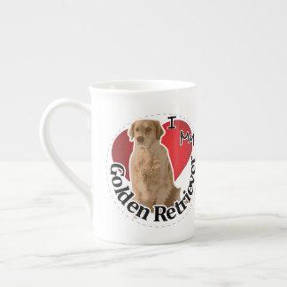 I Love My Happy Adorable Funny & Cute Golden Retri Tea Cup