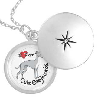 I Love My Happy Adorable Funny & Cute Greyhound Do Locket Necklace